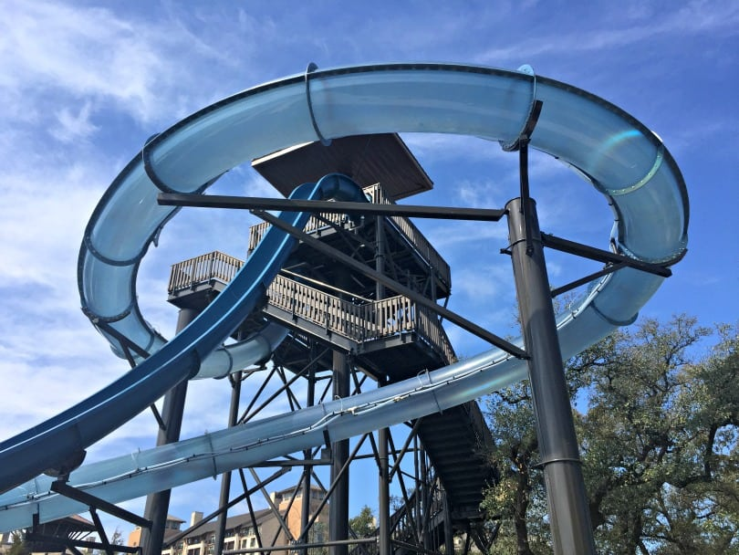 The newly expanded River Bluff waterpark experience at the JW Marriott San Antonio Hill Country Resort