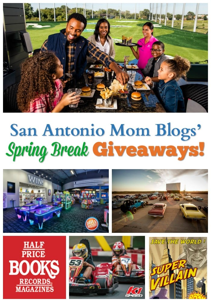 Spring Break giveaways all week long from San Antonio Mom Blogs!