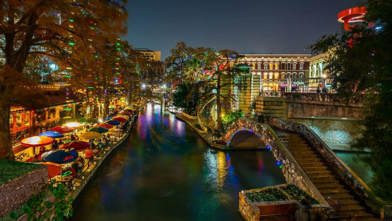 The Holiday Lights on the River Walk Are Back Early in San Antonio