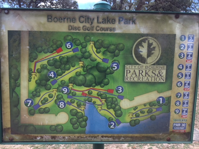 boerne lake disc golf course